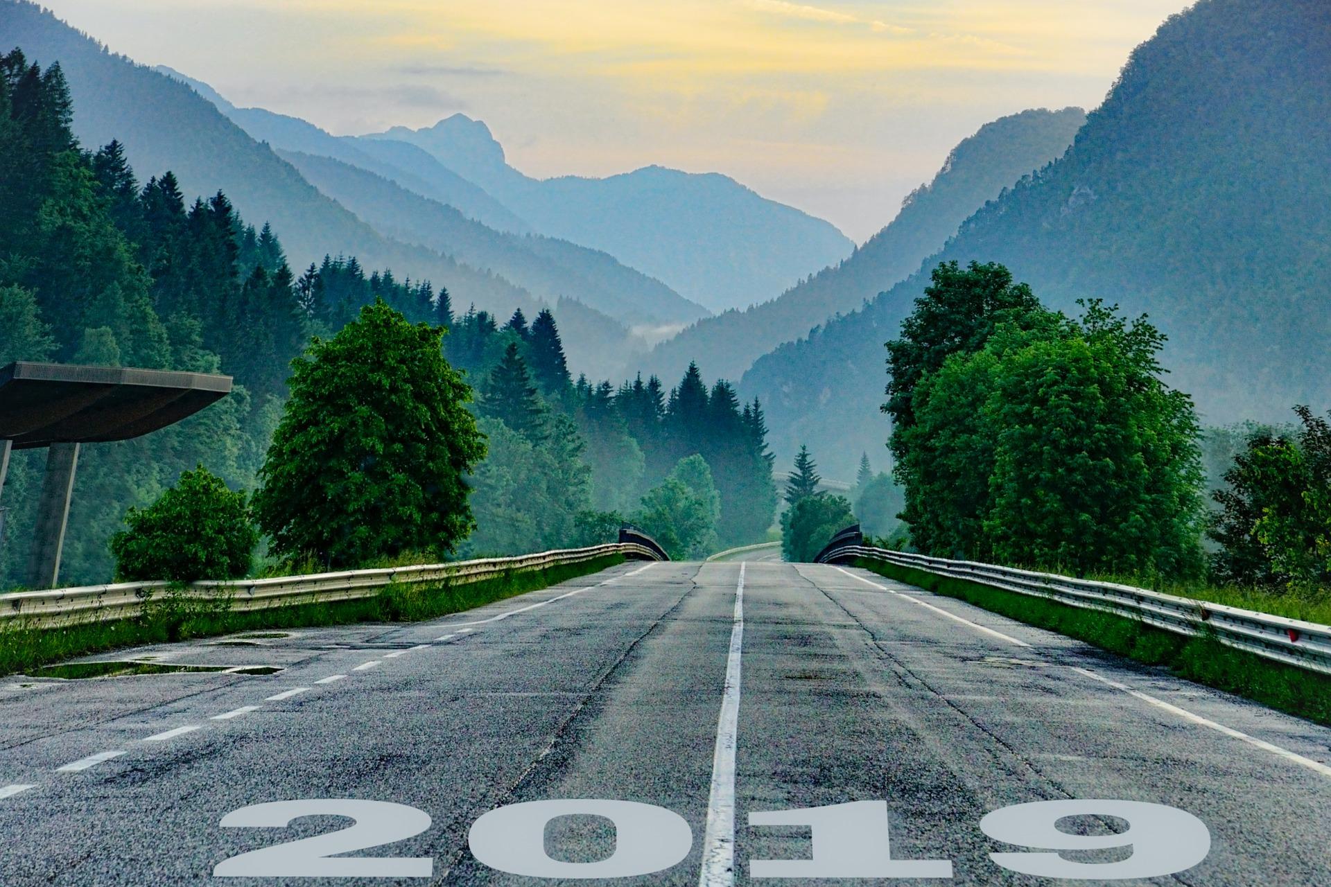 Empty road heading into 2019.
